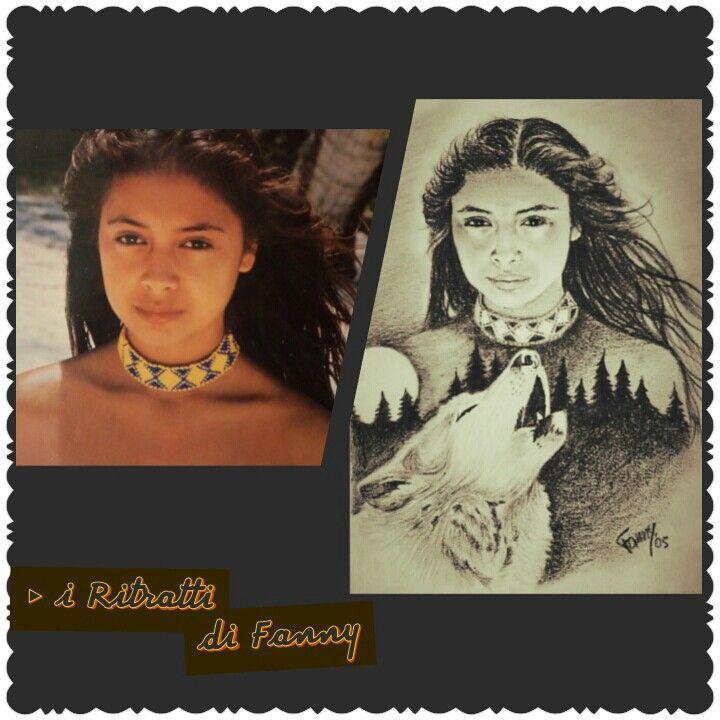 ● Giovane, bellissima Polinesiana, ispirò il mio ritratto di ragazza Nativo Americana ●