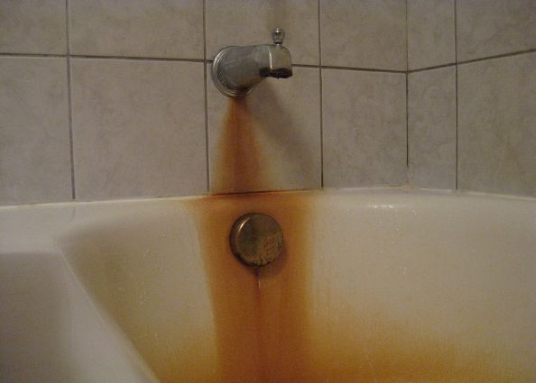 how to remove rust stains from tub, bathroom ideas, cleaning tips, If this is a recurring problem and the staining is chronic there may be no way to remove the stain as it may have etched itself into the porcelain