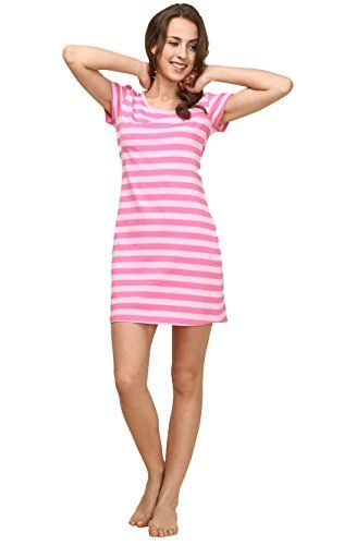Suntasty Women's Nighties Cotton Chemise Striped Nightshirt Nightgown Robes  http://www.yearofstyle.com/suntasty-womens-nighties-cotton-chemise-striped-nightshirt-nightgown-robes/