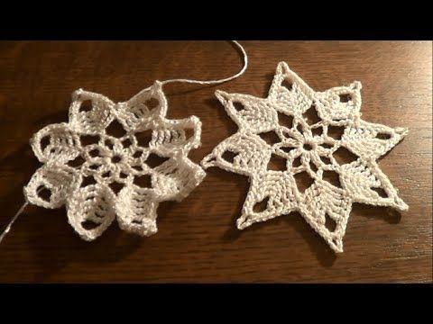 Beautiful 8 sided snowflake Gwiazdka na szydełku - ozdoby świąteczne (I will make 6 sided CBS)