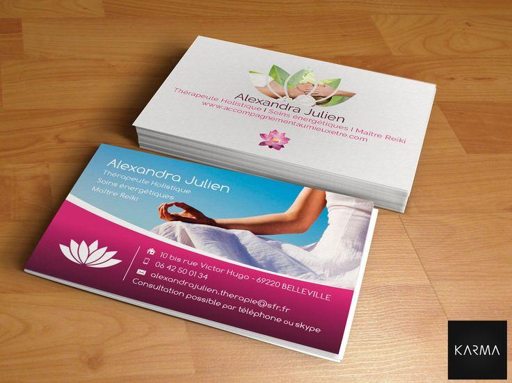 Business Card Design For Alexandra Julien Cration Carte De Visite Pour Thrapeute Holistique I