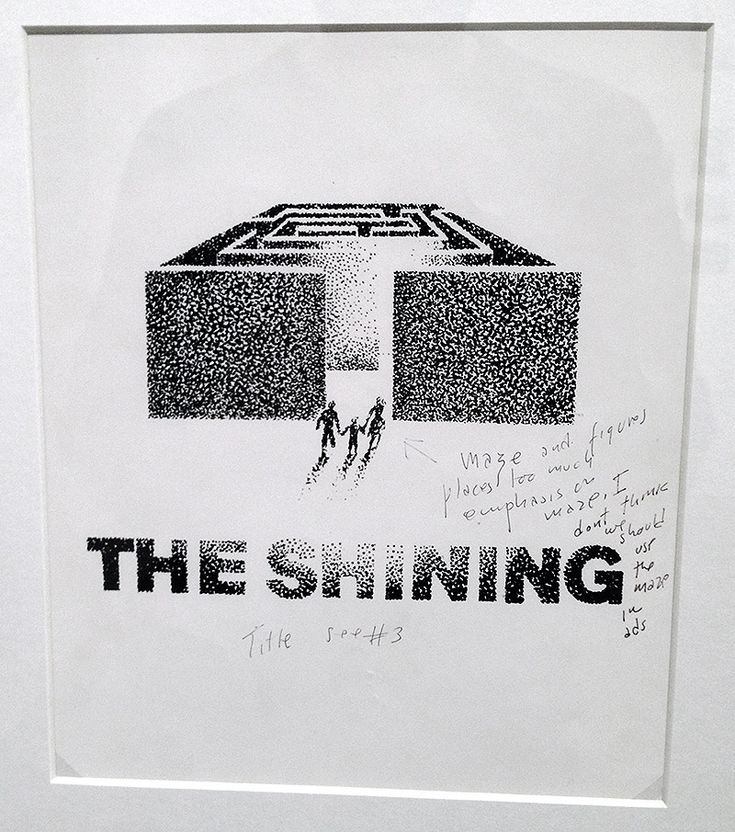 "Saul Bass gets design notes from Stanley Kubrick for his ""The Shining"" film poster"