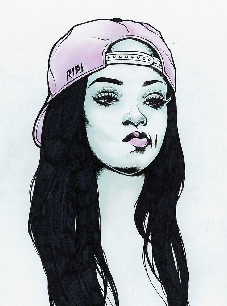 By Adam Isaac Jackson drawings in 2019 Art, Rihanna