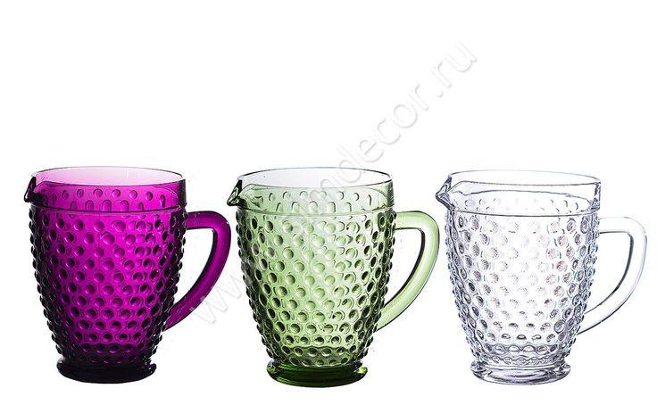 Кувшины из цветного стекла