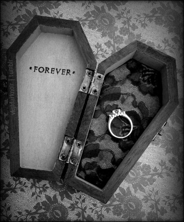 beautiful morbid gothic engagement wedding proposal
