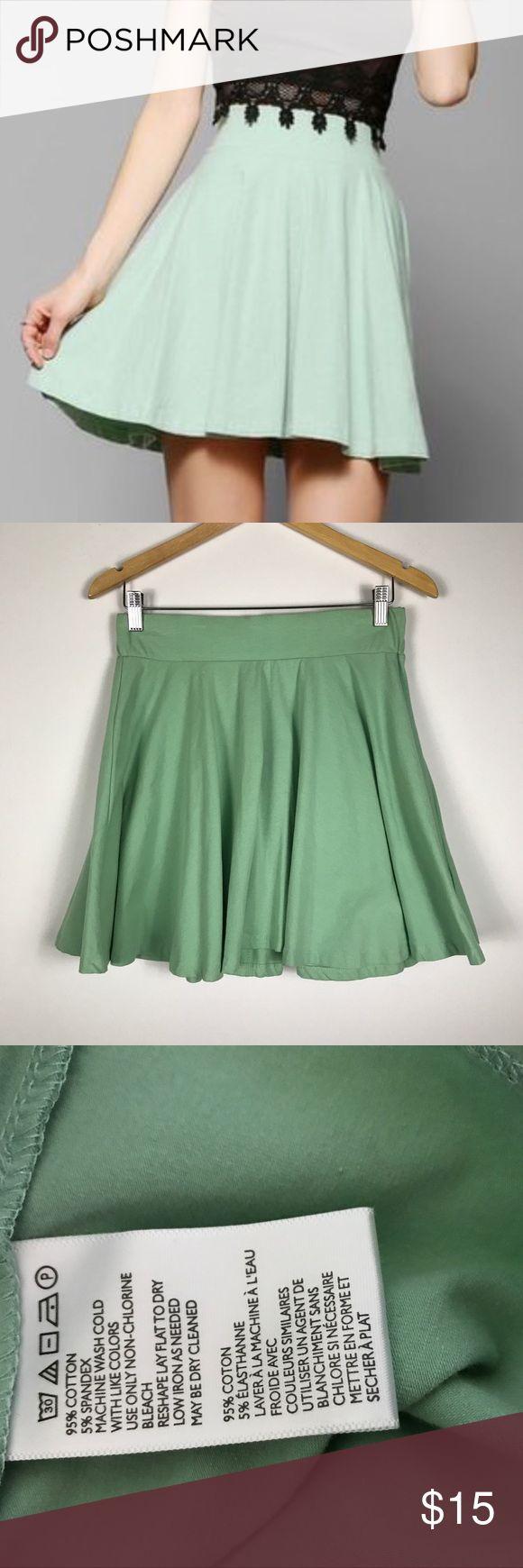 "Mint medium pins needles urban outfitters skirt Mint medium pins needles urban outfitters skirt. Elastic waist. Measures approx 14.5"" elastic waist 18""long laying flat Urban Outfitters Skirts Circle & Skater"