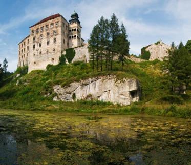 Pieskowa Skala Castle is a Renaissance-era castle located in Poland's Malopolska region near Krakow.