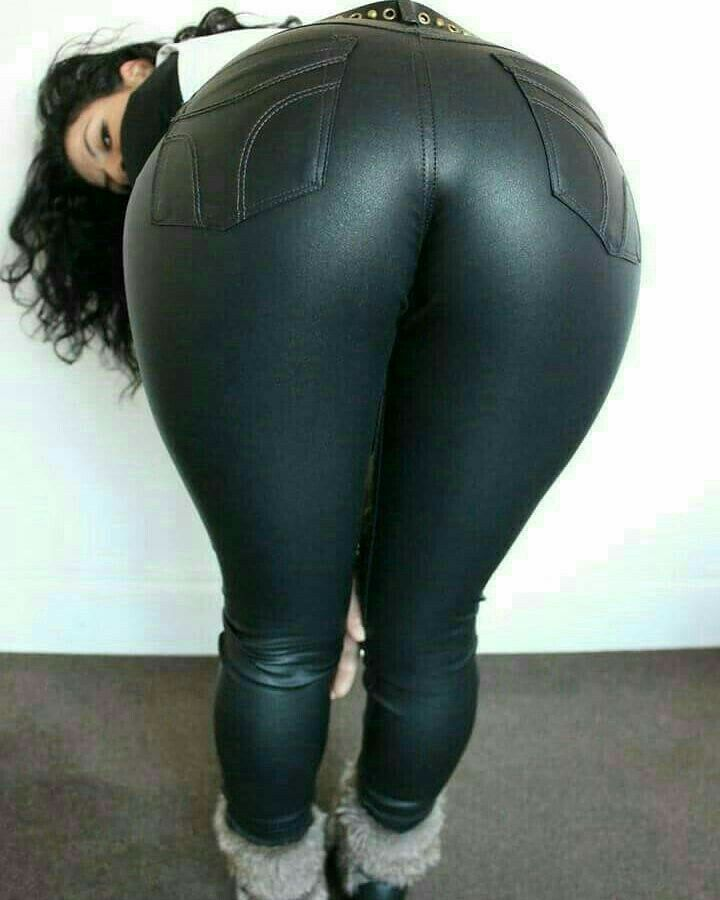 Leather girl big ass booty
