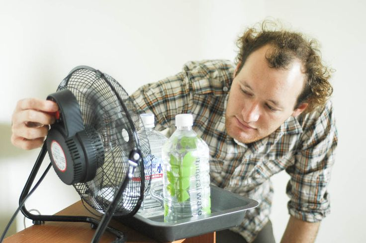 How to Make an Easy Homemade Air Conditioner from a Fan and Water Bottles -- via wikiHow.com