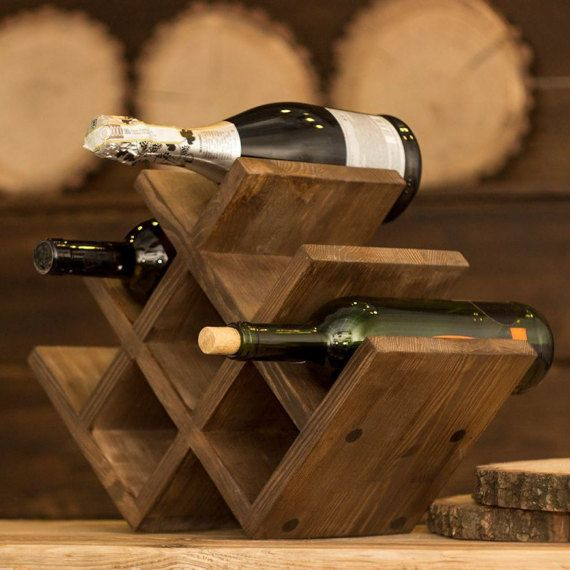 Pallet wood wine rack Wine Rack reclaimed wood by woodvilleland