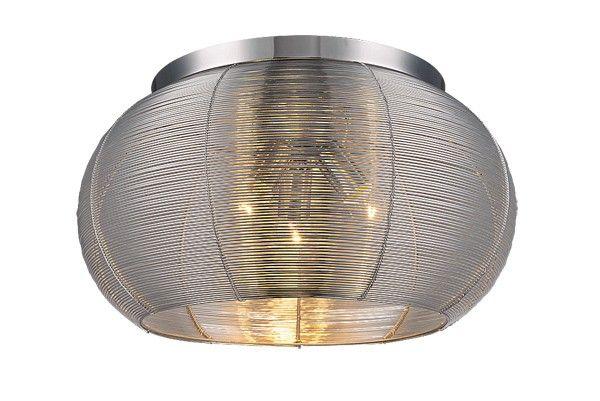 Modern és spot lámpák : Meda menny.lámpa E27 3*60W ezüst,