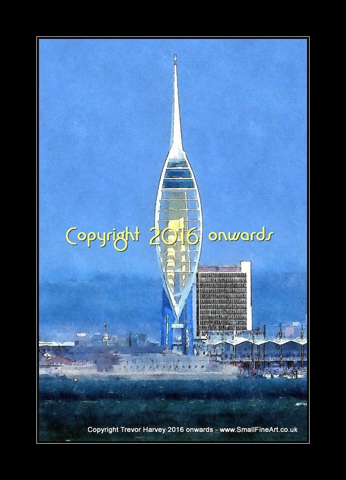 Portsmouth - Exclusive Fine Art Print 12x8 inches