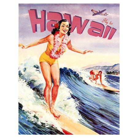Hawaii Vintage Canvas Art