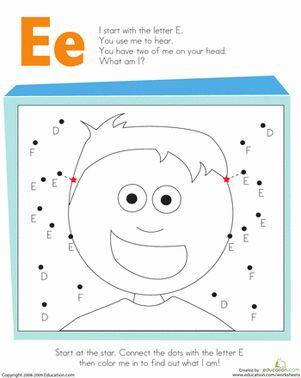 letter dot to dot e preschool lettering worksheets kindergarten reading. Black Bedroom Furniture Sets. Home Design Ideas