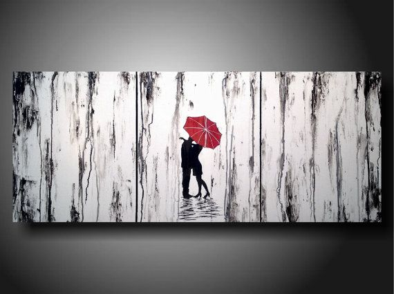 Art original Abstract painting 20 inches X 48 by JMJARTSTUDIO, $299.00