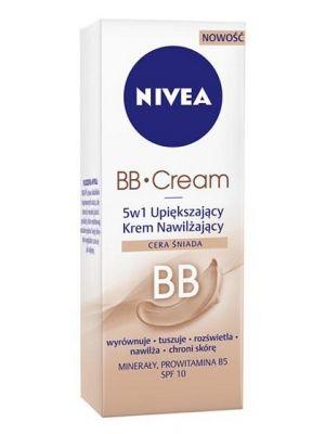 NIVEA 50ml Cera śniada BB Cream 5w1 Krem upiększający  • wyrównuje koloryt skóry i zmniejsza widoczność porów • szybko się wchłania i nawilża • do cery śniadej • łatwy w aplikacji