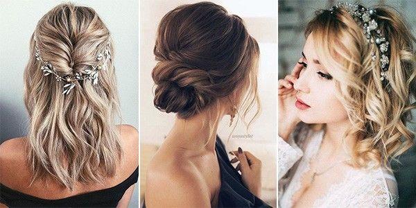 20 Medium Length Wedding Hairstyles For 2021 Brides Emmalovesweddings Wedding Hairstyles For Medium Hair Medium Hair Styles Wedding Hairstyles Medium Length