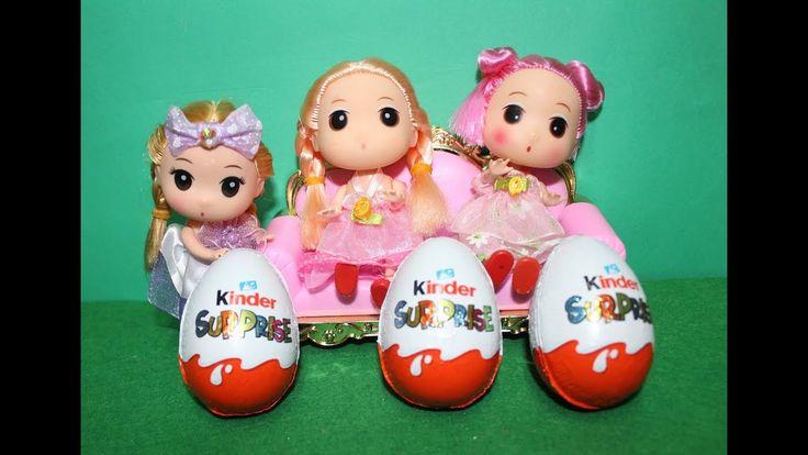 كندر سبرايز و كندر جوي 6 بيضات المفاجآت و 3 عروسة صغيرة العاب بنات Kinder