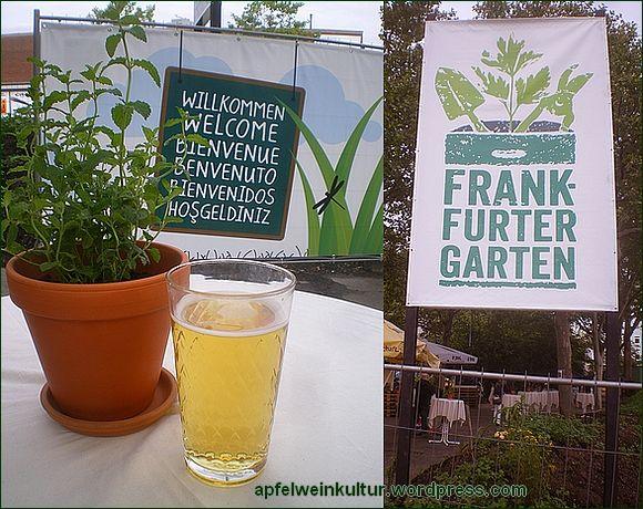 Frankfurter Garten eröffnet, ab jetzt dauerhaft mit eigens kreiertem #Apfelwein, dem #Frankfurter #Garten #Schobbe - der Frankfurter Garten ist übrigens auch der Ort der 3. Hessischen #Apfelweinmeisterschaft vom 12.7 bis 14.7.2013  - Foto via Apfelweinkultur-Blog http://wp.me/p2IqPK-8J mit freundlicher Erlaubnis - #Ebbelwoi #Aeppler #Schoppen #Glas #Gerippte #Apfelweinkultur #Apfelweinglas #FrankfurterGarten