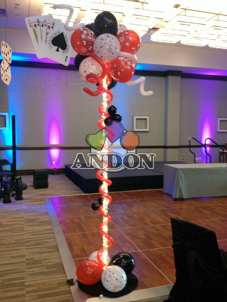 Baby Shower Balloons Casino Party Balloon Columns