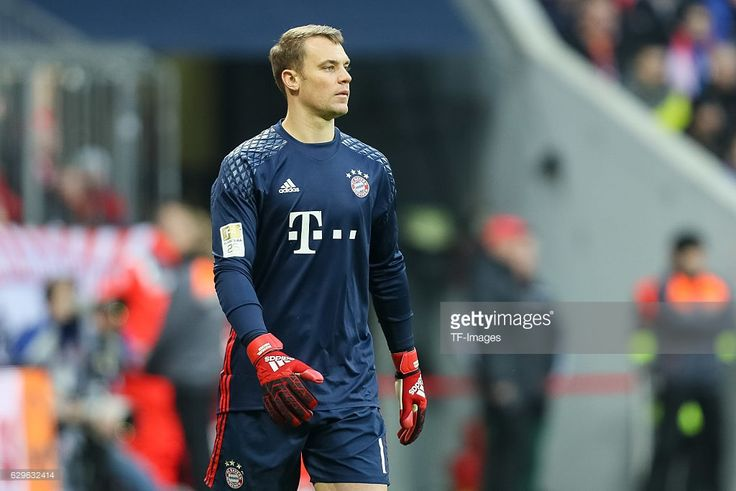 goalkeeper Manuel Neuer of Muenchen looks on during the Bundesliga match between Bayern Muenchen and VfL Wolfsburg at Allianz Arena on December 10, 2016 in Munich, Germany.