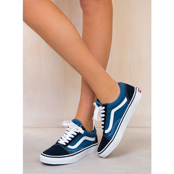 Vans Old Skool (60.030 CLP) ❤ liked on Polyvore featuring navy