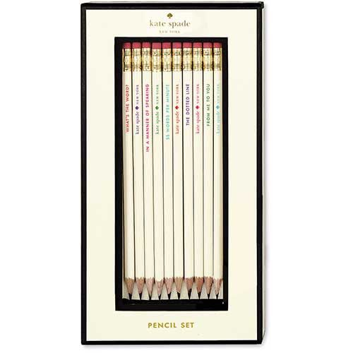 Kate Spade Pencil Set