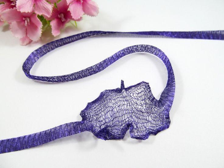 1 Meter Gewebeband / Mesh, 6mm, Farbe dunkel-lila von Schmuckes von der Perlenbraut auf DaWanda.com