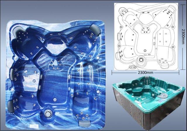 Poseidon 5 Seats & 1 Lounger Zspas Luxury Hot Tub Spa