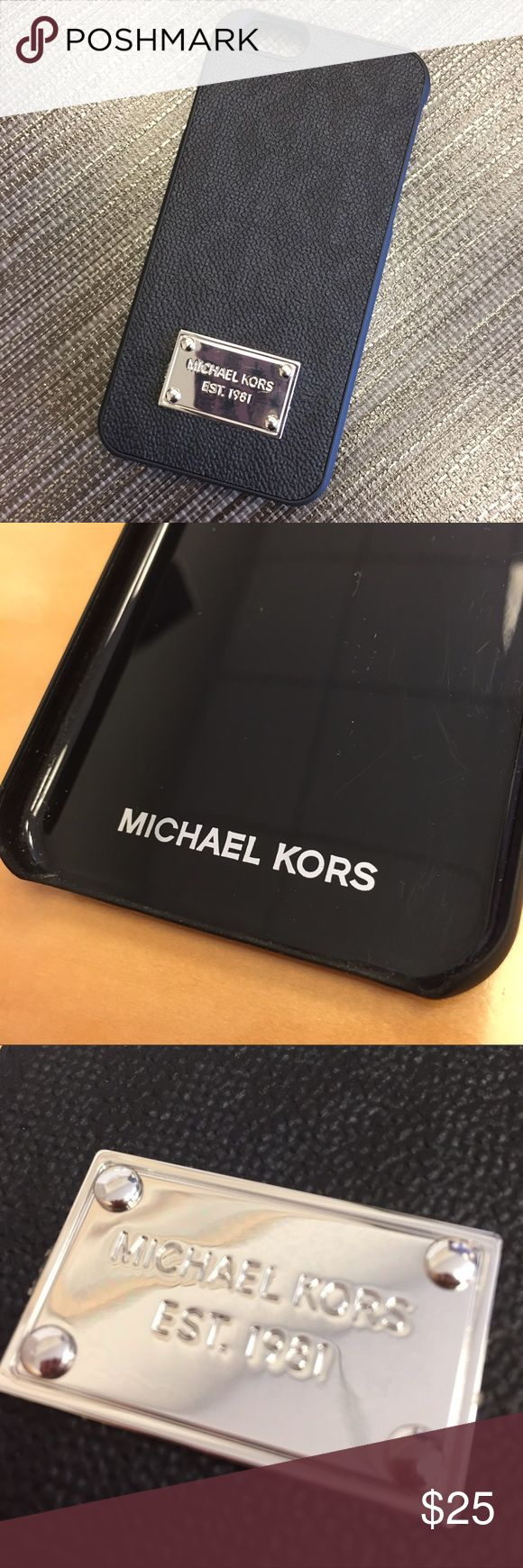 "MICHAEL by Michael Kors iPhone 6 case cover Authentic MICHAEL Michael Kors iPhone 6 case/cover. Black Saffiano Leather, plastic trim, silver color logo plate on front. 5"" x 2.5"". Never used. Price is fairly FIRM because of fees but always open to bundling for discounts. 😊 MICHAEL Michael Kors Accessories Phone Cases"