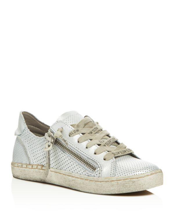 Dolce Vita Zombie Embossed Metallic Zip Up Sneakers