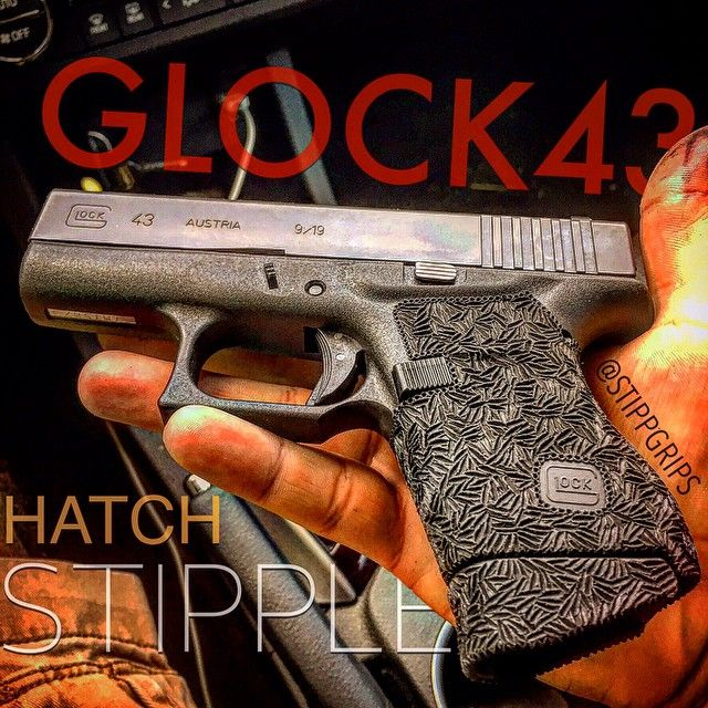 PERSONAL G43 WEARING THE ONE AND ONLY HATCH STIPPLE! #Glock #glockteam #glock43…