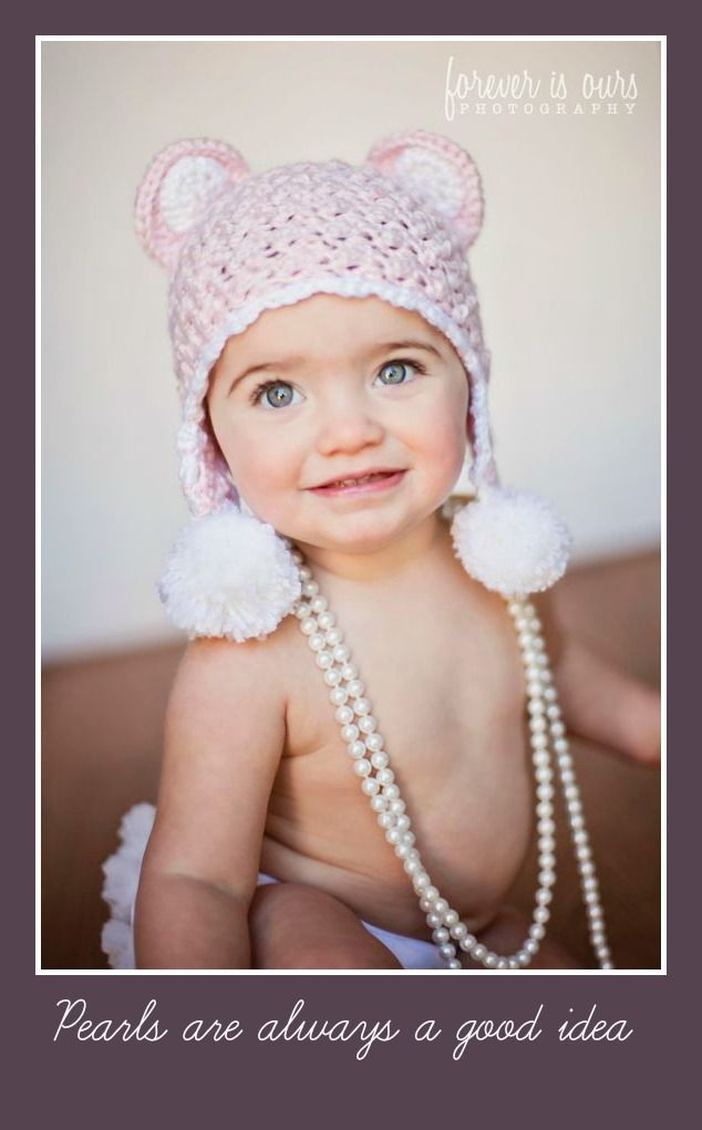 Pearls are always a good idea |  Hat by Littlebit and Whimsy on Etsy  |     Forever is Ours Photography