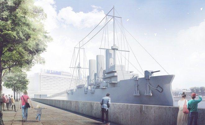 «Cruiser «Aurora» Museum Temporary Pavilions Project