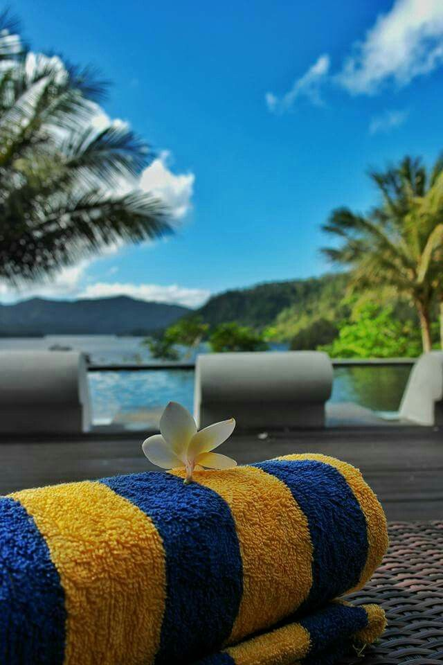 Lets take a break and let go for awhile   #dabirahe #lembehhills #bitung #dive #lembeh #holiday #spa #resort #travel #tour #dive #honeymoon #romance