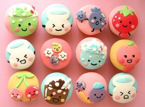 so cute #brilliantDesserts, Cute Cupcakes, Cookies, Cupcakes Ideas, Sweets, Food, Cups Cake, Kawaii Cupcakes, Cupcakes Rosa-Choqu