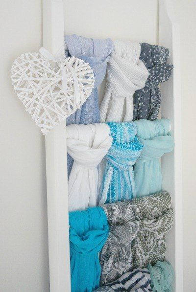 Step-by-Step...DIY Scarf Storage!