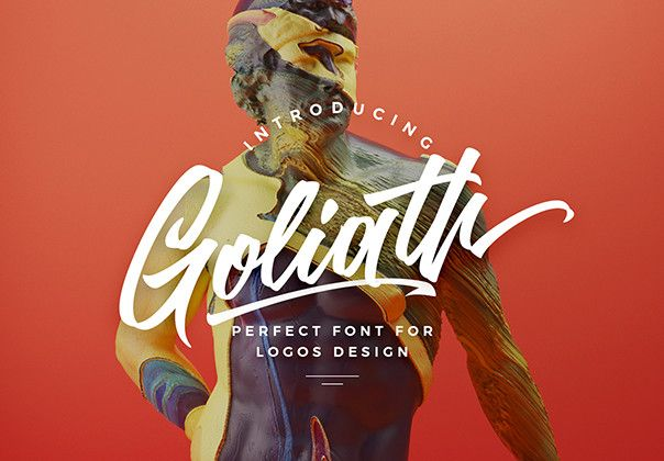 Goliath is the font pack of all font packs! The Regular font combines with the alternate character font to make each word unique. Then add the Splashes font as your tagline and — the ideal logo!