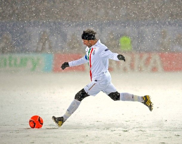 Football in the Snow! Which english footballer do you think is the best skier?