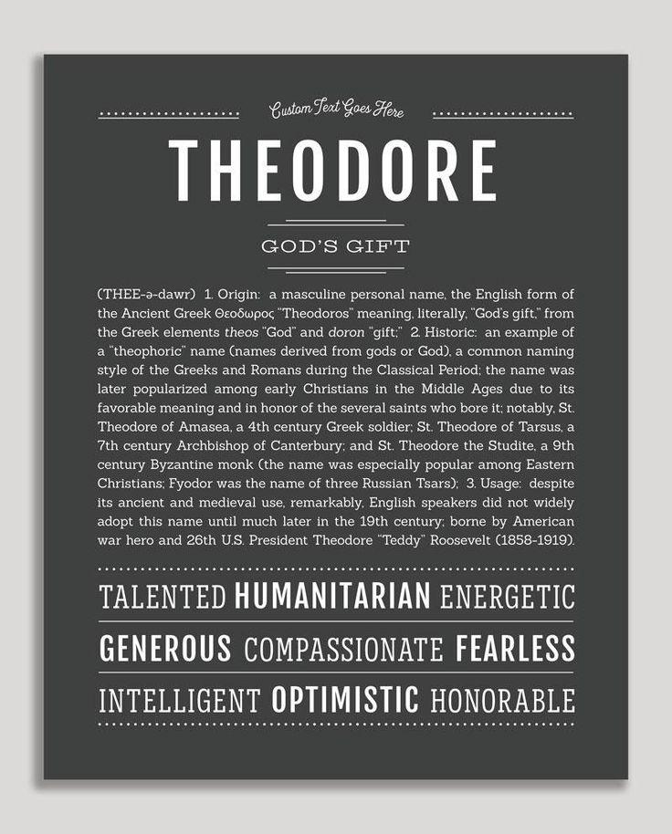 Theodore   Classic Name Print   Classic names ...