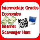 $3.00 Intermediate Grades Internet Scavenger Hunt on the topic of Economics - supply & demand, taxes, resources and goods vs. services - includes a PDF version, a type on version and a QR code version
