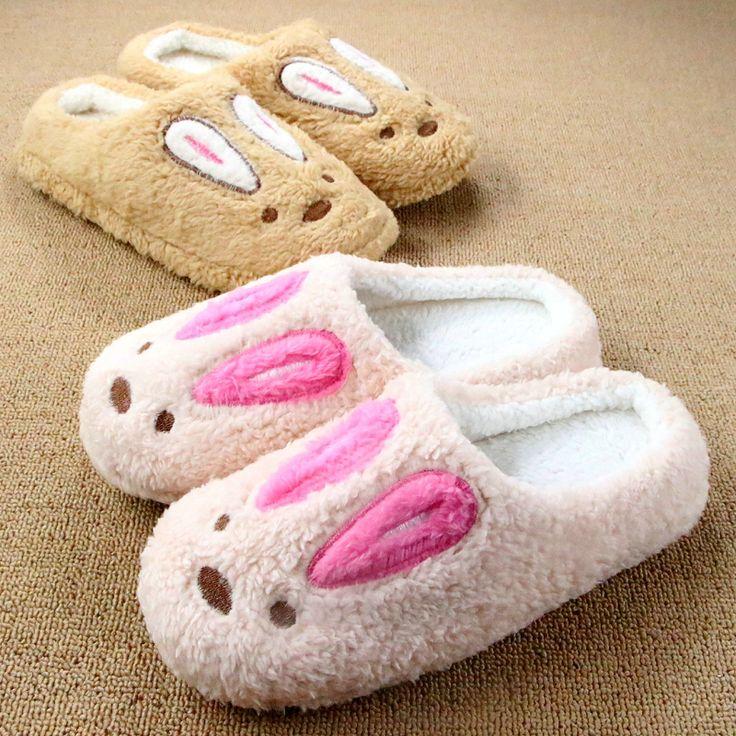 Ватки новый милый кролик любителей зимних видов животных шаблон домашние тапочки для человека женщины в помещении тапочки домой обуви Pantufa Chinelos