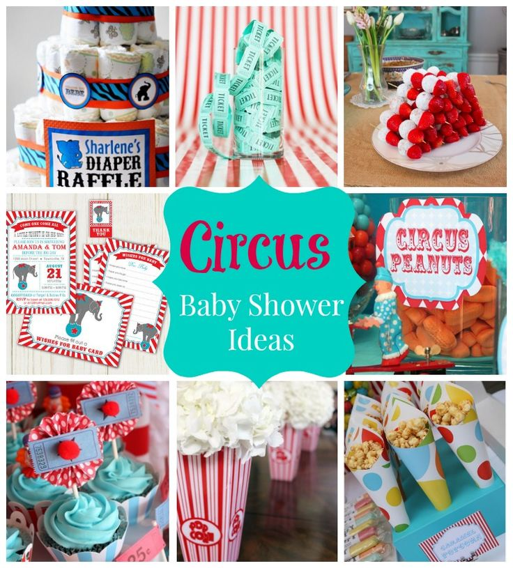How to plan a Circus Baby Shower - Savvy Sassy Moms