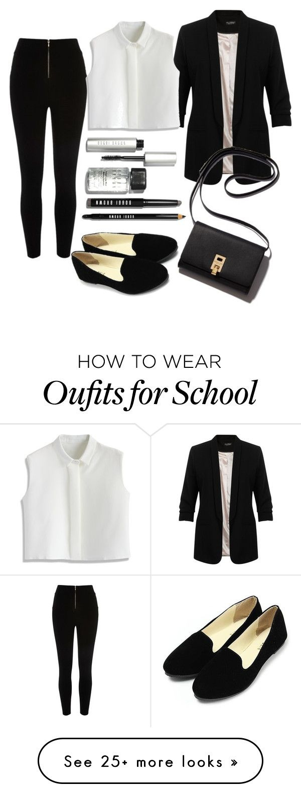 """Back to school #3"" by ilona-calder on Polyvore featuring moda, Miss Selfridge, Chicwish, Bobbi Brown Cosmetics, women's clothing, women, female, woman, misses e juniors"