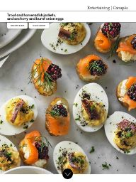 Waitrose Food November 2016: Trout and horseradish jackets, and anchovy and burnt onion eggs