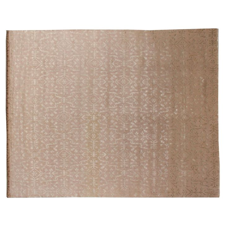 Exquisite Rugs Tibetan-weave Ivory Wool / Art silk Square Rug (10'6 x 10'6) (Ivory 10'6'' Square)