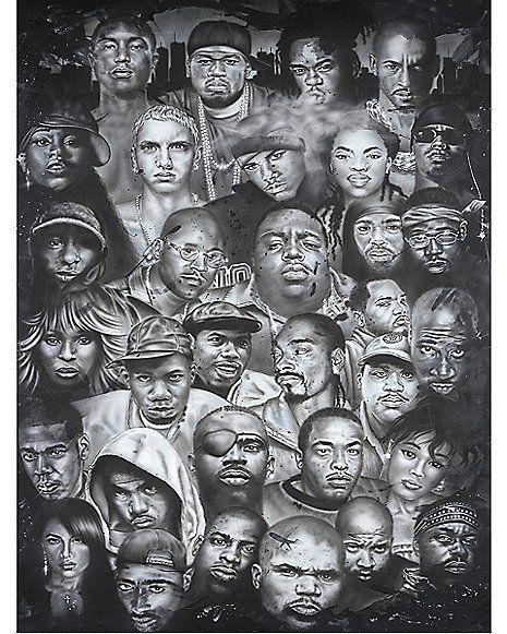 Hip hop artists poster