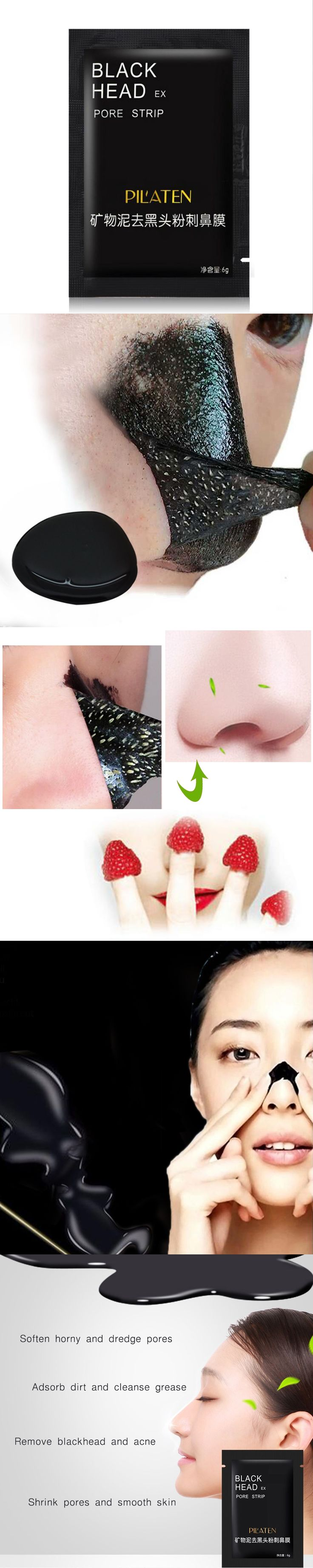 1pcs Face Care Tearing style Deep Cleansing purifying Conk Nose Blackhead Remover, acne treatment, black mud face