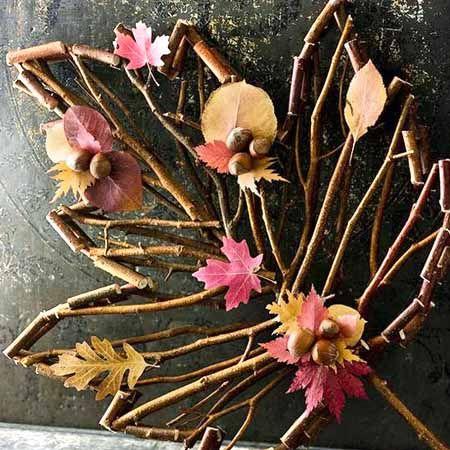 садовые осенние поделки из природных материалов