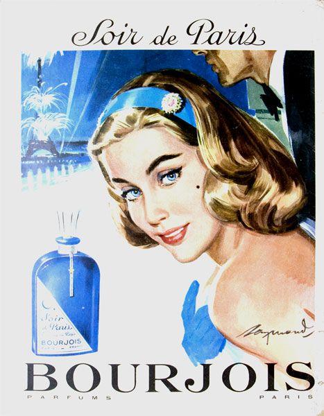 Publicité du parfum Soir de Paris de Bourjois